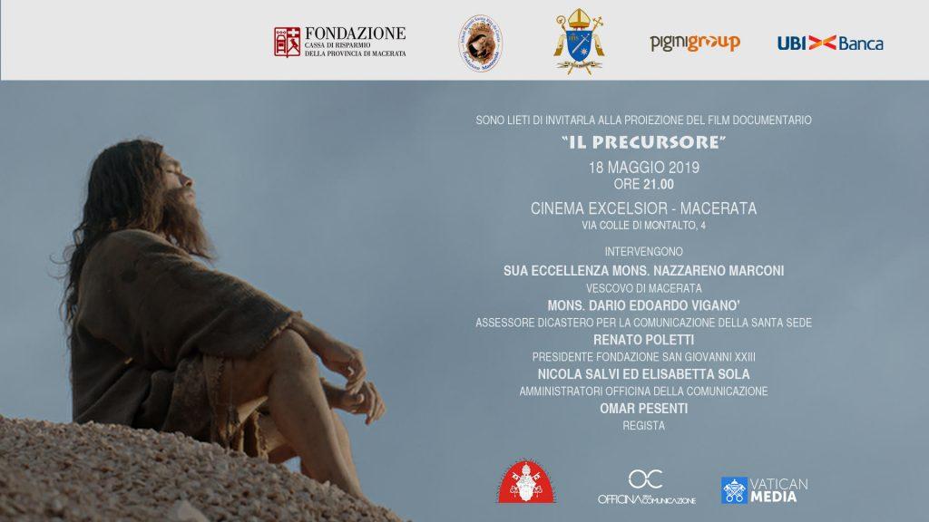 SABATO 18 MAGGIO – FILM DOCUMENTARIO – IL PRECURSORE